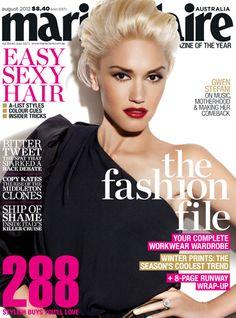 Marie Claire Australia Aug 2012 featuring Gwen Stefani. #magazines