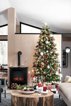 Faux Fir LED Christmas Tree with White Lights (Crate & Barrel) - High-Quality Artificial Christmas Trees Led Christmas Tree, Natural Christmas, Christmas Decorations, Holiday Crafts, Holiday Decor, Crate And Barrel, White Light, Crates, Lights
