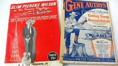 Music Magazines from the 1930s Slim Pickens by ChaseyblueVintage
