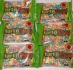 Tart n Tinys candy 6 pack Six 1.5 oz Tart and Tiny 80s favorite w New Blue IN STOCK NOW