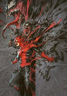 Venomized: Unbinding by Kael Ngu Miles Spiderman, Miles Morales Spiderman, Spiderman Art, Batman Art, Marvel Comics Art, Marvel Comic Universe, Marvel Memes, Amazing Spiderman, Marvel Venom