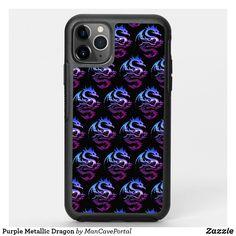 Purple Metallic Dragon OtterBox iPhone Case Iphone 4s, Iphone Wallet, Apple Iphone, Iphone Cases, Synthetic Rubber, Protective Cases, Portal, Metallic, Dragon