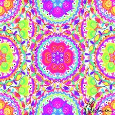 Kaleidoscope  www.society6.com/brittanyredman digital print