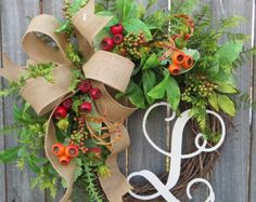 Reserved for Leslie  Larger Greenery Wreath
