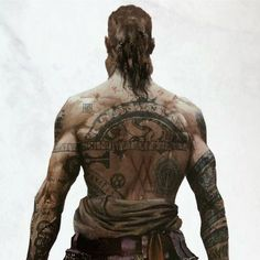 "Great Shot of Baldur from the Book ""The Art of God of War"""