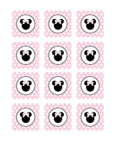 INSTANT DOWNLOAD  Minnie Mouse Light Pink Cupcake by AdeleGraphics, $2.99