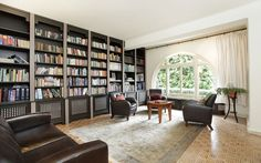 Airy library of an Edwardian family home