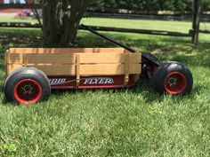 Slammed Radio Flyer Custom Radio Flyer Wagon, Radio Flyer Wagons, Go Kart Frame, Kids Wagon, Power Cars, Low Rider, Kids Ride On, Pedal Cars, Childhood Toys
