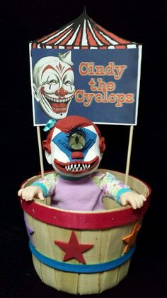 Zombie Baby Cindy the Cyclops Circus Clown Halloween Haunted House Prop