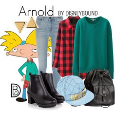 Arnold by leslieakay on Polyvore featuring Uniqlo, Alexander Wang, H&M, Argento Vivo, Moschino and Halloween