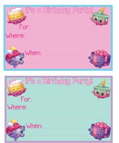 Planning a Shopkins birthday party? Free Shopkins Birthday Party Printables are found right here at Mandy's Party Printables! Shopkins Invitations, Birthday Invitation Templates, Birthday Party Invitations, Party Favors, Wedding Invitations, Fete Shopkins, Shopkins Bday, Shopkins Printable, 5th Birthday Party Ideas