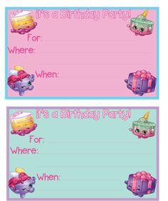 Free printable Shopkins birthday party invitation by Mandy's Party Printables