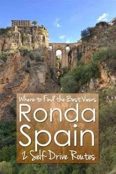 Everybody wants to travel to Ronda in Spain to see the famous bridge of Ronda. But where to find the best view of Ronda? I give you 2 self-drive routes around Ronda Spain Travel Guide, Europe Travel Tips, European Travel, Travel Guides, Travel Destinations, Cadiz, Ibiza, Portugal Travel, Spain And Portugal