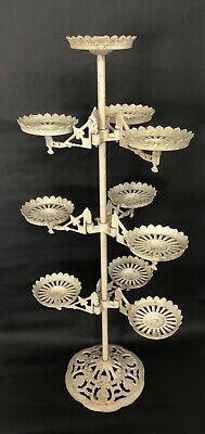 Details About Antique Cast Iron Tiered Plant Stand Victorian Swing