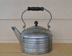 Tea Kettle Vintage Revere Aluminum Tea Kettle by JudysJunktion