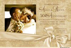 Single Photo Golden Anniversary Wedding Invitation