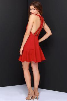 Keepsake Better Off Alone Red Dress at Lulus.com!