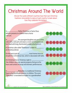 Christmas Traditions Around The World (Holiday Readers) by Carole ...