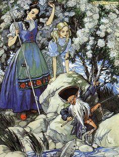 Snow White and Rose Red -- Barbara C. Freeman -- Fairytale Illustration