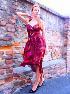 https://banachic.wordpress.com/ red gown, summer dress