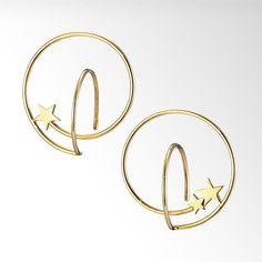 STAR CIRCLE PIERCED EARRINGS ¥28,080(税込)