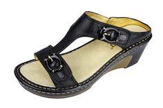 Alegria Lara Black Butter Sandal - now on closeout! | Alegria Shoe Shop
