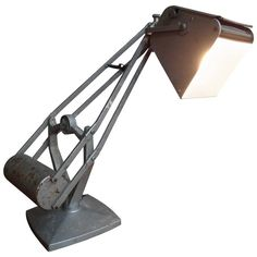 1930 Vintage Retro Hostman Industrial Adjustable Counter Balance Lamp | From a unique collection of antique and modern table lamps at https://www.1stdibs.com/furniture/lighting/table-lamps/