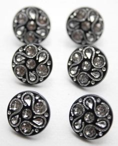 Crochet 6 Resin Black Buttons Free UK P/&P Ideal for sewing Knitting 15mm