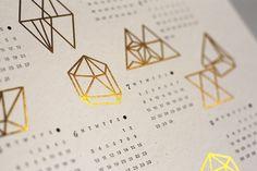 Prisms Calendar letterpress and gold foil calendar by julia kostreva Spray Paint Upholstery, Diy Spray Paint, Bussiness Card, Calendar Design, Dating Advice, Relationship Advice, Graphic Design Typography, Graphic Design Inspiration, Gold Foil