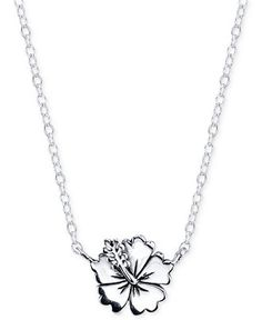 Lilo & Stitch Flower Necklace in Sterling Silver - Necklaces - Jewelry & Watches - Macy's