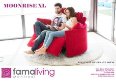 Welcome to Mia Stanza furniture in Nantwich, Cheshire. Suppliers of the Fama Moonrise XL Electric Recliner and Rocker 2 seater. Funky Sofa, Swivel Recliner Chairs, Lounge Chairs, Big Chair, Comfy Chair, Plastic Adirondack Chairs, Small Sofa, Power Recliners, Lounge Furniture
