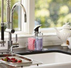 Kitchen Soap Dispenser With Sponge Holder Pump