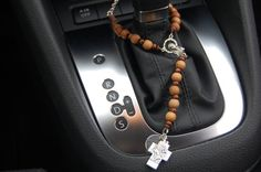 Baptism Gift.Auto Rosary.Travel Rosary.Godparent Gift..Gift For Godparents. Catholic Gift.Custom Rosary.Car Rosary.Saint Christopher Cross.