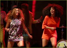beyonce solange knowles coachella music festival 03 Beyonce joins her younger sister Solange Knowles on stage during her set at the 2014 Coachella Music Festival on Saturday (April 12) at the Empire Solo Club in Indio,…