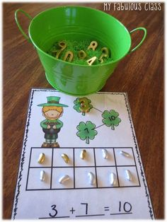 FREEBIE - Sums of Ten St. Patrick's Day