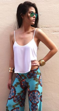 White Top, Boho Print and Bangles      http://sulia.com/channel/fashion/f/eef81412-235a-4e43-b682-29870a410e1d/?source=pin&action=share&btn=small&form_factor=desktop&sharer_id=125430493&is_sharer_author=true&pinner=125430493
