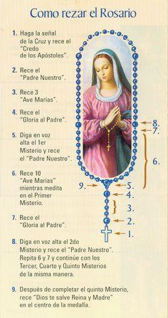 rezar el rosario con los ninos  | ... con fe, acompañado por Dios y la Santa Virgen y con la patria en el
