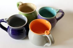 One Custom Made Mug in Your Choice of 2 Colors  by MissPottery, $30.00 *I want chartreuse exterior, violet pink interior.