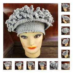 Etsy Crochet Hat Pattern for Women - LINDA Brim Hat Pattern with Fringes - Winter Fashion