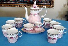 Royal Albert Bridesmaid Pink and White Roses Coffee