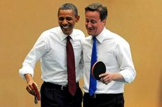 Barack Obama, Jock David Cameron, Jock #tabletennis #pingpong #jock #thenewjock