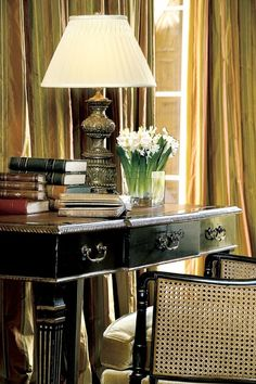 Things We Love:  Black Furniture - great black desk