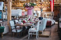 vintage warehouse inspiration-lovely tablescape www.MadamPaloozaEmporium.com www.facebook.com/MadamPalooza