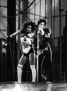 Rare picture of Prince and backup dancer Catherine Glover aka Cat on the Lovesexy Tour 1988.