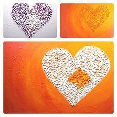 Schilderij Pittig hart II   de totstandkoming - ondergrond   voor het eindresultaat zie http://marloesvanzoelen.nl/schilderijen/pittig-hart-ii/?