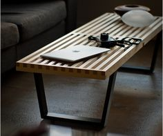 Nelson bench used as a coffee table