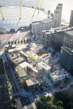 SelgasCano and Architects are among eight studios creating buildings for a purpose-built design district at the heart of Greenwich Peninsula in London. Amazing Architecture, Landscape Architecture, Landscape Design, German Architecture, Residential Architecture, Greenwich Peninsula, Masterplan, London, Urban Planning
