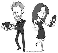 A #cartoon #illustration made for a friend's #wedding #invitation.