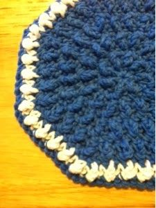 Treasures Made From Yarn: Bumpy Circular Dishcloth
