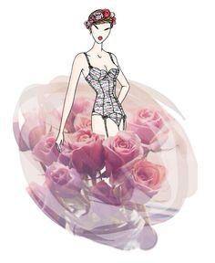 TULLE FRONCE - Look Printemps/Eté 2014 #ChantalThomass #lingerie #Paris